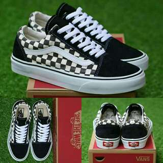VANS OLDSKOOL CHECKERBOARD BLACK WHITE