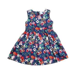 Navy Skater Dress with Flora Prints by The Little Ones (1 - 6Y)
