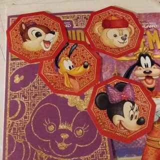 迪士尼正版新年貼紙