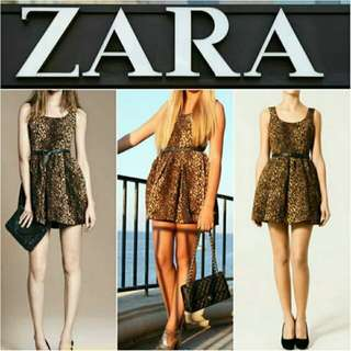 -Yunik- Authentic ZARA Leopard/Animal Print Dress