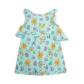 Light Green Daisy Sleeveless Dress by The Little Ones (2 - 6Y)