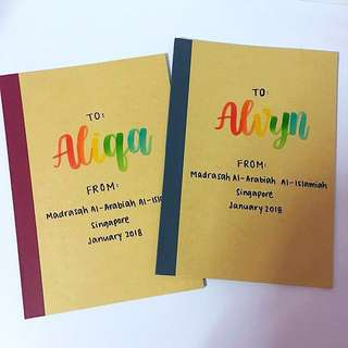 Customisable Goodie Colleagues birthday Colleague Day Student Presents Present Gift Gifts Teacher Door Birthday friend Friends Party Kid Kids Boy Girl Calligraphy Personalised Customised Farewell Notebooks Notebook Celebration cheap bag Teachers