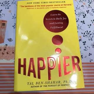 紐約時報英文暢銷書Happier Tal Ben Shahar哈佛最受歡迎的課 快樂之道原文書