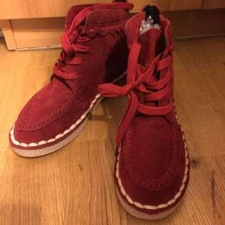 🚚 紅色短靴