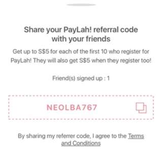 Get $5 when u sign up for DBS PayLah!