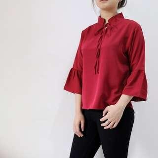 Blouse Merah Nisa (B005)