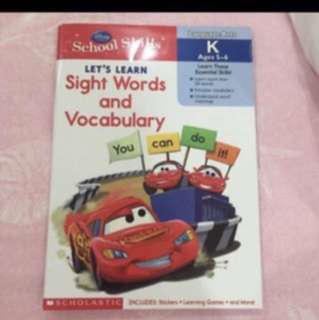 Scholastics School Skills Lets Learn Sight Words And Vocabulary For Age 5-6