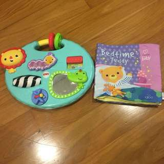 Fisher price busy board and Igloobooks soft book