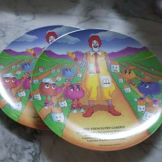 Brand New plate of The French Fry Garden Mac Donald plate 1989