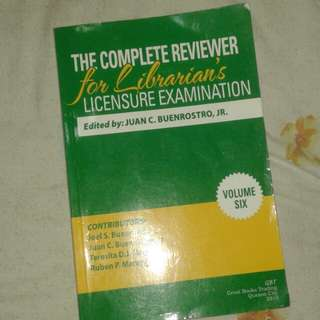 LICENSURE EXAM FOR LIBRARIANS