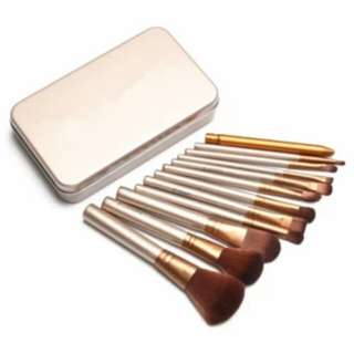 12pcs Professional 3 Power Makeup Brush (Gold)