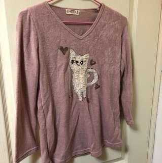 🚚 貓咪毛絨上衣