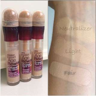 Maybelline age rewind concealer in light & neutraliser