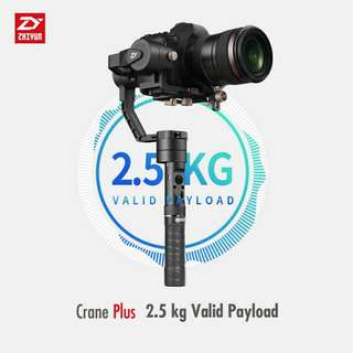 *CNY Sales* Zhiyun Crane Plus Gimbal Stabilizer (For DSLR or Mirrorless Camera up to 2.5kg)