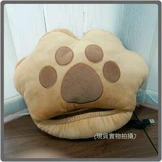 【冬季保暖】可愛貓爪usb加熱暖手暖腳cushion