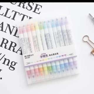 [INSTOCKS] 12 colour mildliner highlighters