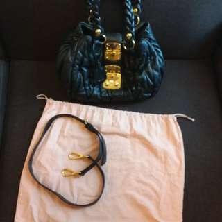 miu miu black handbag