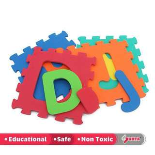 [FREE POSTAGE SM] Sunta english learning eva mat puzzle crawling 36pcs