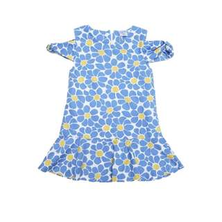 Off Shoulder Blue Daisy Dress by The Little Ones (2 - 6Y)