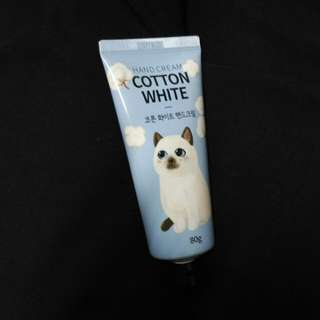 Korean Cat Cotton White Hand Cream