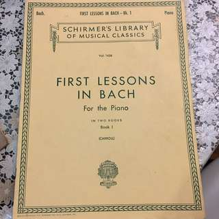 Piano - First Lessons in BACH book 1