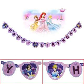 💕 Disney Princess party supplies - birthday banner bunting / party deco / birthday deco