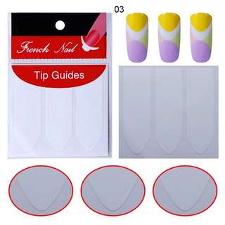NM 8pack French Nail Tips Sticker Nail Art DIY Stickers UV Gel Nail Polish Sticker Manicure Nail Forms Fringe Guides Sticker