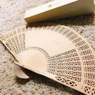 Wooden fan 木製手扇(全新連盒)