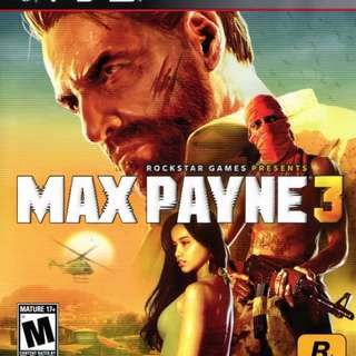 Blu-Ray Disc Sony PS3 Max Payne 3