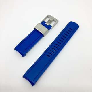 Crafter Blue Curved End Rubber Strap for Seiko Sumo Scuba Diver's 200m (CB02) Royal Blue