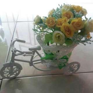 Pot Bunga Sepeda,pajangan Unik Dan Lucu