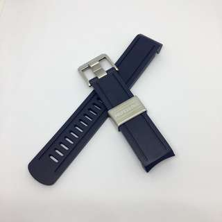 Crafter Blue Curved End Rubber Strap for Seiko Sumo Scuba Diver's 200m (CB02) Navy Blue