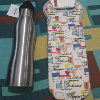 Gourdo's Sports Bottle with Neoprene Tote Bag