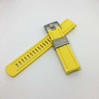 Crafter Blue Curved End Rubber Strap for Seiko Sumo Scuba Diver's 200m (CB02) Yellow