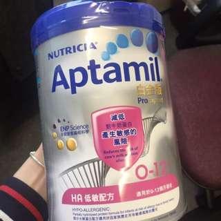 Aptamil 白金低敏HA奶粉 0-12個月