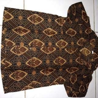 Kemeja batik bayi_coklat
