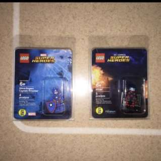 LEGO SDCC 2016 ATOM LEGENDS OF TOMORROW & HAIL HYDRA CAPTAIN AMERICA STEVE ROGERS MISB NEW UNOPENED MARVEL SUPERHEROES