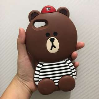 BROWN 3D CASE IPHONE 7