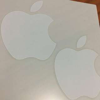 Apple logo sticker