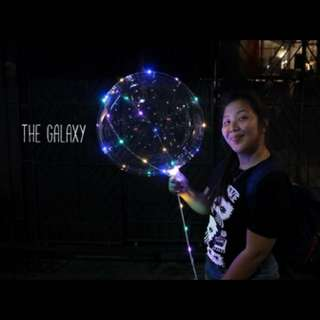 Galaxy Balloons with Fairy Lights