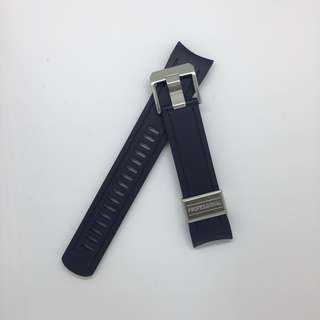 Crafter Blue Curved End Rubber Strap for Seiko SKX Series(CB05) - Navy Blue