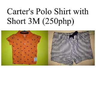 Preloved baby polo and short