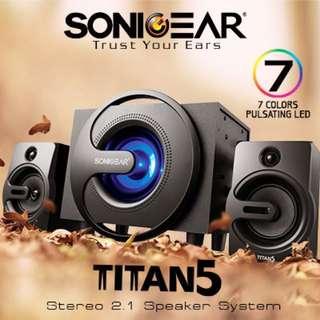 PROMOTION - SonicGear TITAN 5 Stereo 2.1 Speaker / Bluetooth