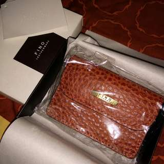 Fino Leather Wallet ( With box,  ribbon & card)