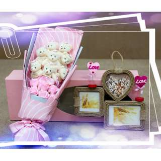 Romantic Special Gift Eternal Love Soap Flower Rose 8pcs Bear