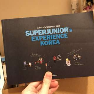 Super junior 旅遊書明信片集