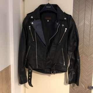 Real leather jacket biker vintage