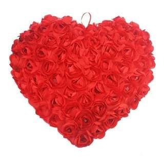 30 x 26CM Chair Rose Heart Shape Novelty Decorative Pillows Gift