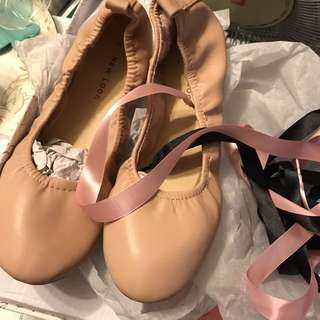 New ballet style shoes with ribbon