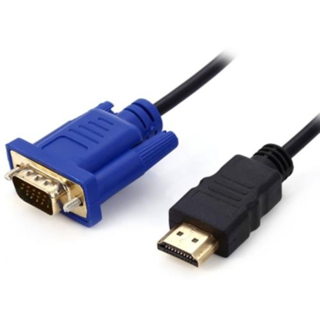 3m Hdmi Male To Vga Data Cable Blue And Black Electronics Kabel Others On Carousell